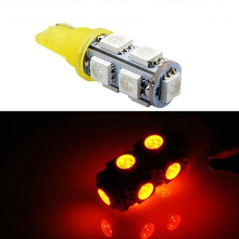 2pcs Yellow Orange T10 5050 SMD 9 LED Wedge Car Light Lamp Bulb 168 194 W5W 2825 carprie car light 5pcs 10pcs t10 wedge 5 smd 5050 xenon led light bulbs 168 194 w5w 2825 158 fog white yellow light lamp bulb