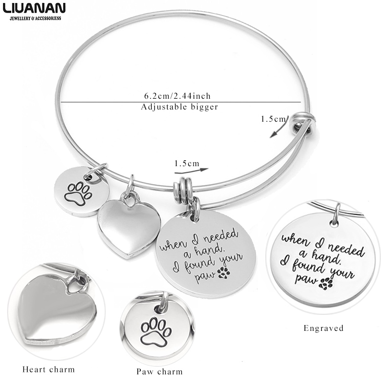 My Beagle Has My Heart Engraved Expandable Bangle Bracelet