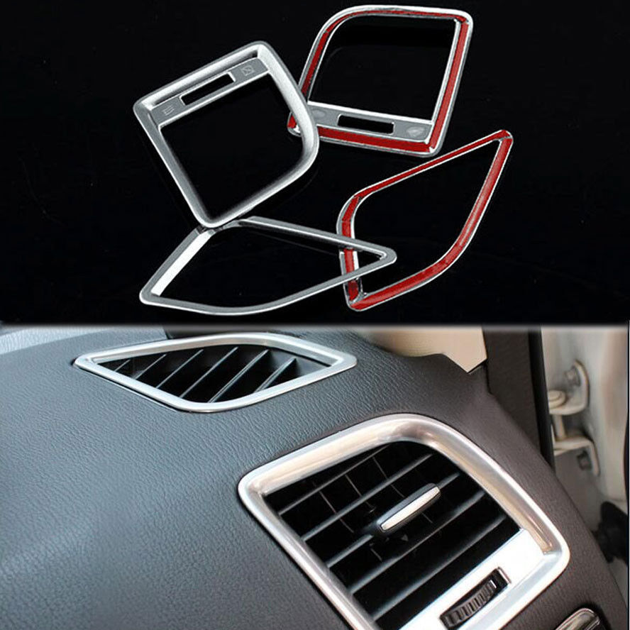 BBQ@FUKA 4Pcs Matt Interior AC Air Conditioning Vent Outlet Frame Cover Trim Fit For Mazda CX5 2013-2015 Car Styling Accessories for mazda cx 5 cx5 2nd gen 2017 2018 interior custom car styling waterproof full set trunk cargo liner mats tray protector
