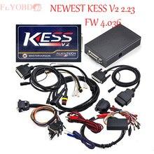 Alta calidad V2.23 V2 Kess ECU programador viruta del ECU kess v2 herramienta de adaptación de kess v2 FW 4.036 versión Maestra NoToken Límite de ENVÍO nave