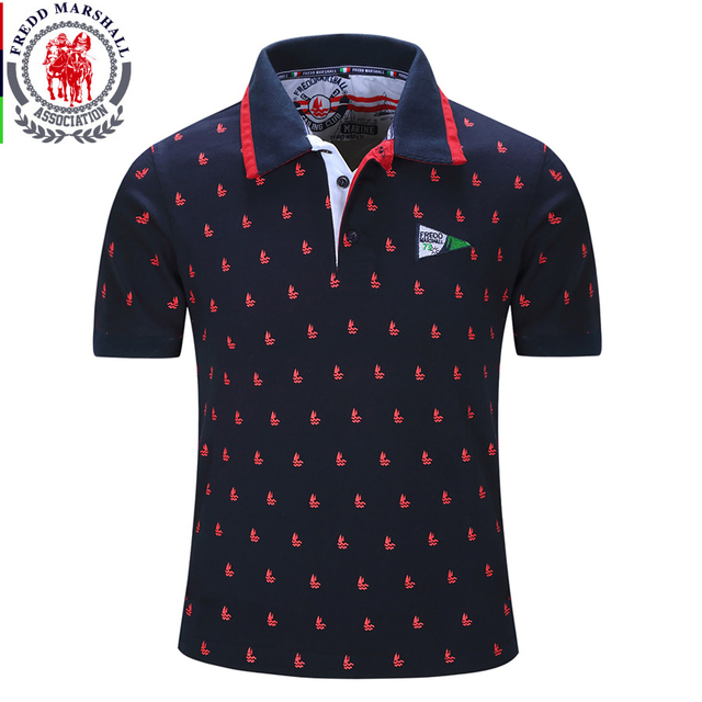 2017 New Brands Mens Printed POLO Shirts Brands 100% Cotton Short Sleeve Camisas Polo Stand Collar Male M-XXL European size