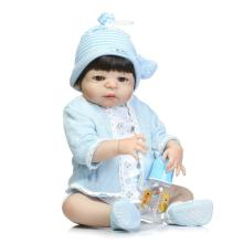Full silicone Reborn Baby Boy Dolls Bebe Reborn Lifelike Newborn Boys Babies Doll for Child Bathe Juguetes Brinquedos