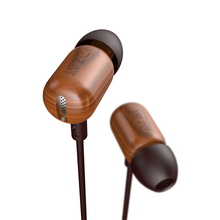 Sale New Original DZAT DF-10 3.5mm In Ear Earphone DIY Wooden DJ Headset Pure Wood Heavy Bass Music HIFI Earbuds