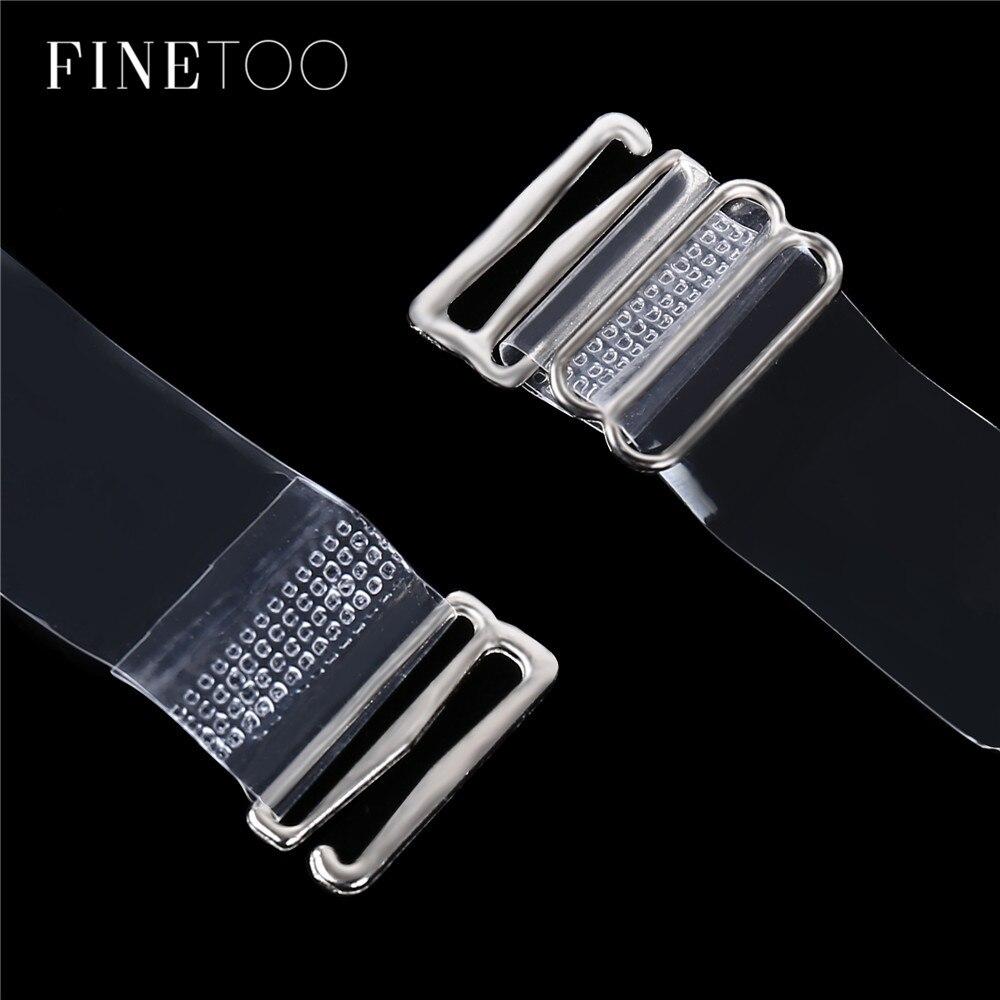 3Pairs=6Pc Elastic Buckle Bra Belt Women's Elastic Transparent Silicone Bra Straps Adjustable Baldric Intimates Accessories