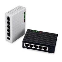Diewu dw-sw7530-t5 5ポート10/100/1000 1000mbpsのギガスイッチハブlanイーサネットdesktopネットワークアダプタw/雷保護spd