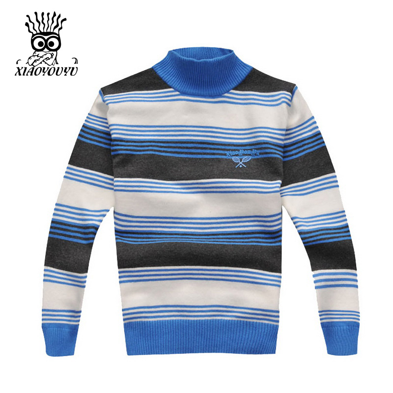 XIAOYOUYU-Size-110-150-Kids-Sweaters-Long-Sleeve-Casual-Style-Stripe-Design-Boys-Warm-Pullovers-Stand-Collar-Children-Clothing-3