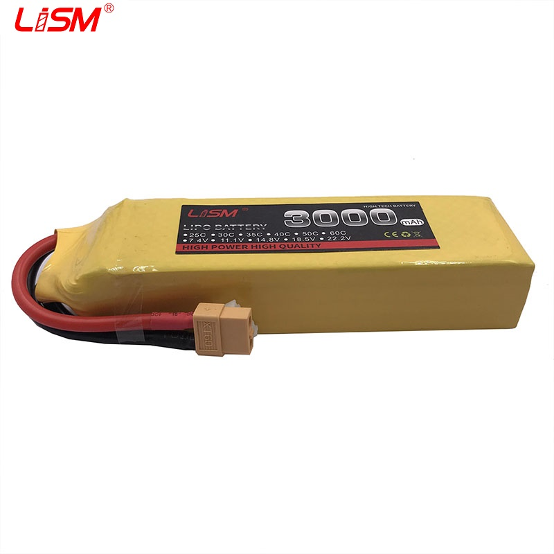 Lipo Battery 4S 14.8V 3000mAh 40C For RC Drone Aircraft Quadcopter Helicopter Airplane Airplane Drone Car RC Parts #30y53