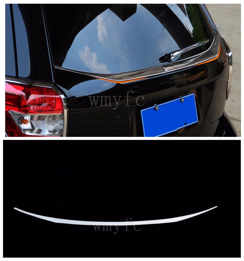 Stainless steel Rear Trunk Lid Cover Fit for Subaru Forester 2013 2014 2015 2016 2017 2018 блендер zigmund