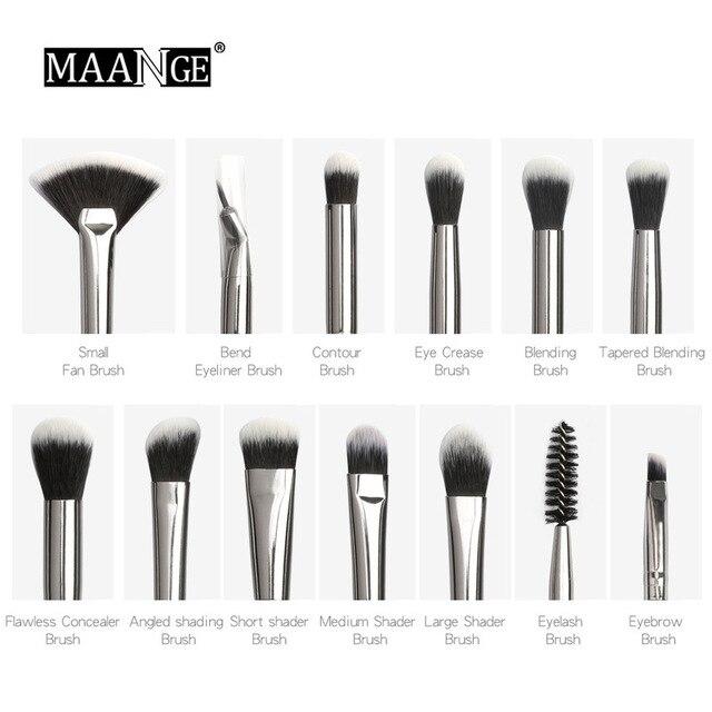 MAANGE new makeup brush 12 PCS professional mixed eye shadow eyebrow brush makeup beauty set 3