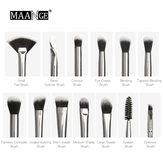 Multifunction new makeup brush 12 PCS professional mixed eye shadow eyebrow brush makeup beauty set 2