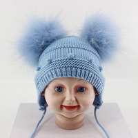 Lovely Baby 1 12 Months PomPom Caps and Hats Bobble Dot Boys And Girls Beanie