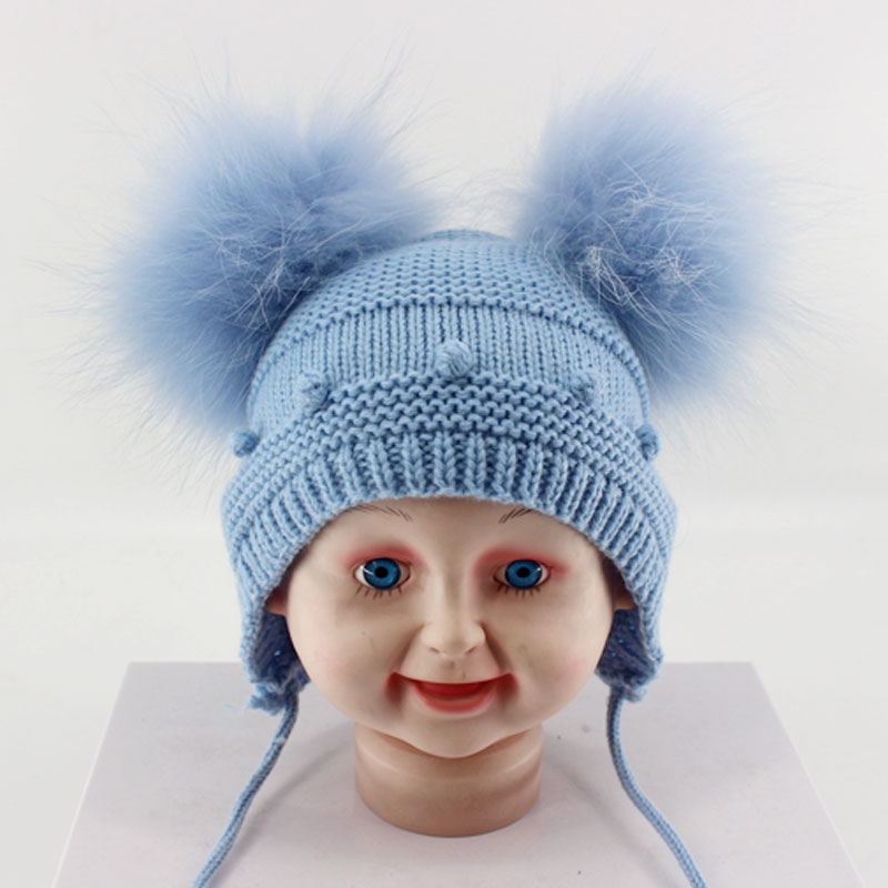 f7ba53c56 Lovely Baby 1 12 Months PomPom Caps and Hats Bobble Dot Boys And ...