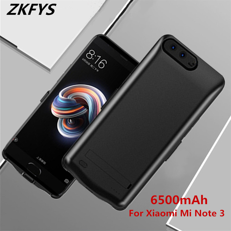 ZKFYS 6500mAh Portable Backup Power Bank <font><b>Battery</b></font> <font><b>Case</b></font> For <font><b>Xiaomi</b></font> <font><b>Mi</b></font> <font><b>Note</b></font> <font><b>3</b></font> High Quality Ultra Thin Fast Charger <font><b>Battery</b></font> Cover image