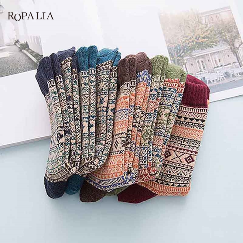 Hot sale! Unisex Socks Color autumn-winter Crazy Soks Warm Comfortable Striped Animal Socks