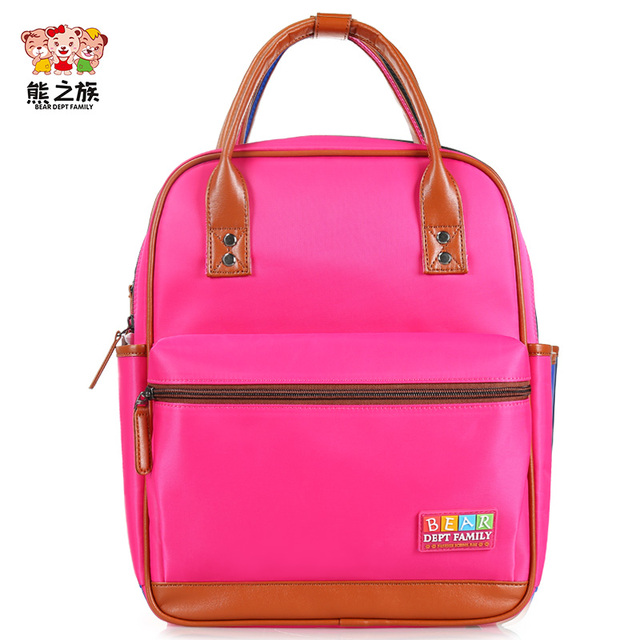 BEAR DEPT FAMILY Brand Backpacks Children School Bags for Baby Boys Girls Kids  Waterproof Backpack for Kindergarten Primary aafddfb70aa39
