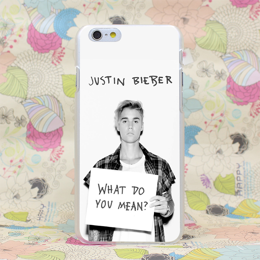 294HJ Do You Mean Justin Bieber Album Cover Hard Transparent Case Cover for iPhone 4 4s 5 5s SE 5C 6 6s Plus 7 7 Plus