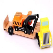 New Wooden Baby Toys Simulated Engineering Vehicle