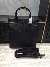 2018 мужские вязаные сумки Портфели портативный один сумка Бизнес дел высокое качество натуральной