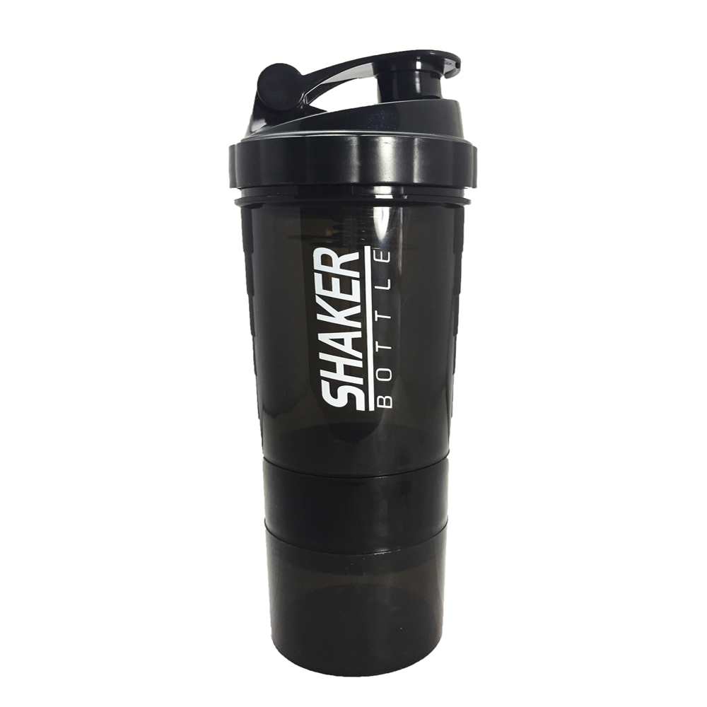Shaker-Bottle Whey-Protein-Powder Fitness Sports Nutrition NEW with Three-Layer