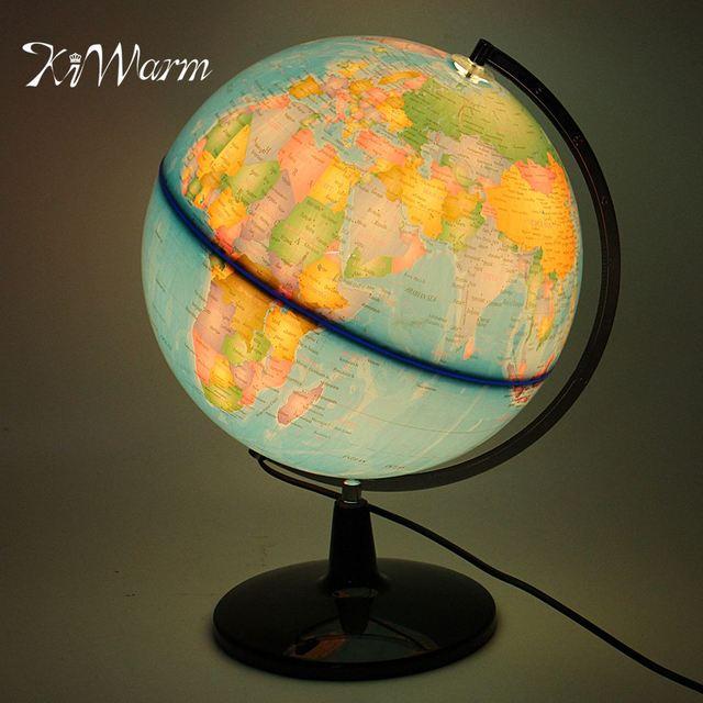 Kiwarm modern 32cm electric led world globe atlas map rotate stand kiwarm modern 32cm electric led world globe atlas map rotate stand geography educational kid gift home gumiabroncs Image collections