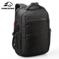 Kingsons Multifunction Men Backpack USB charging Men Shoulder Bag business anti theft waterproof 15.6 inch Laptop backpack 2019