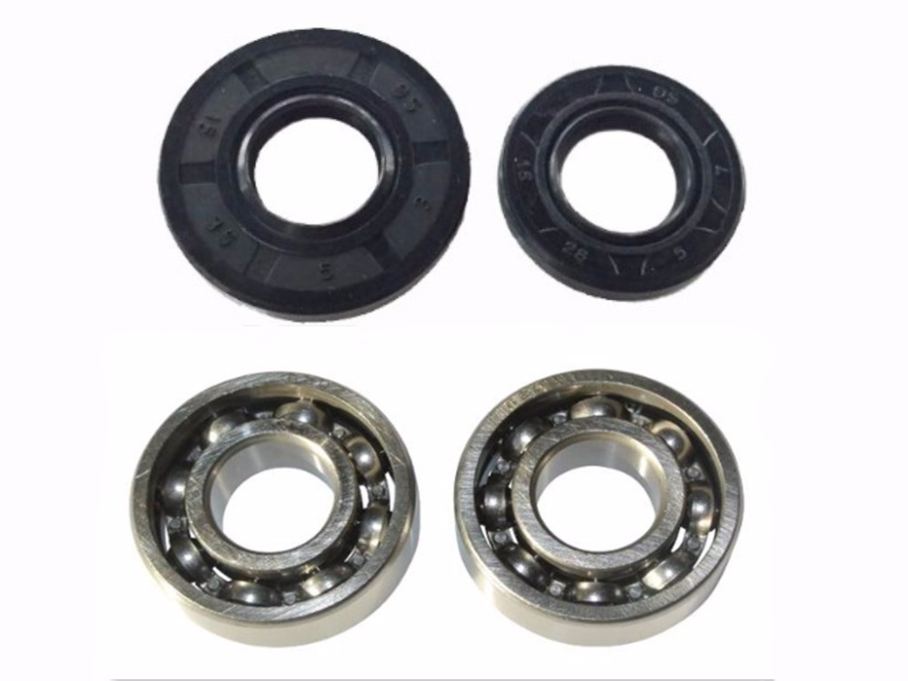 Crankshaft Oil Seal grooved ball Bearing Kit For 5200 52CC Chainsaw