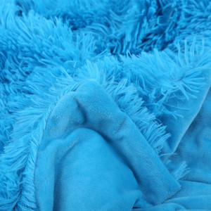 Image 3 - XC USHIO 2020ใหม่โยนผ้าห่มผ้าคลุมเตียงผ้าปูที่นอนBrightสีSuper Soft Long Shaggy Warmคริสต์มาสของขวัญ