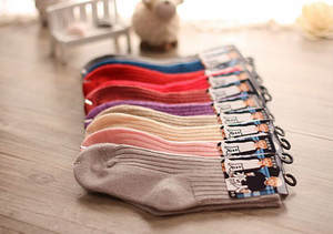 6pairslot Winter Children Thick socks  Warm wool Kids  Socks Baby Socks 2-8 Y Girls Boys Solid Socks bTWS0014