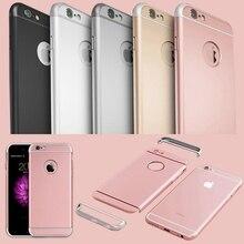 Desmontable 3 en 1 caja de plástico duro de lujo para el iphone 6 6 s 4.7/iphone 6 6 s 5.5 oro rosa transparente logotipo original círculo