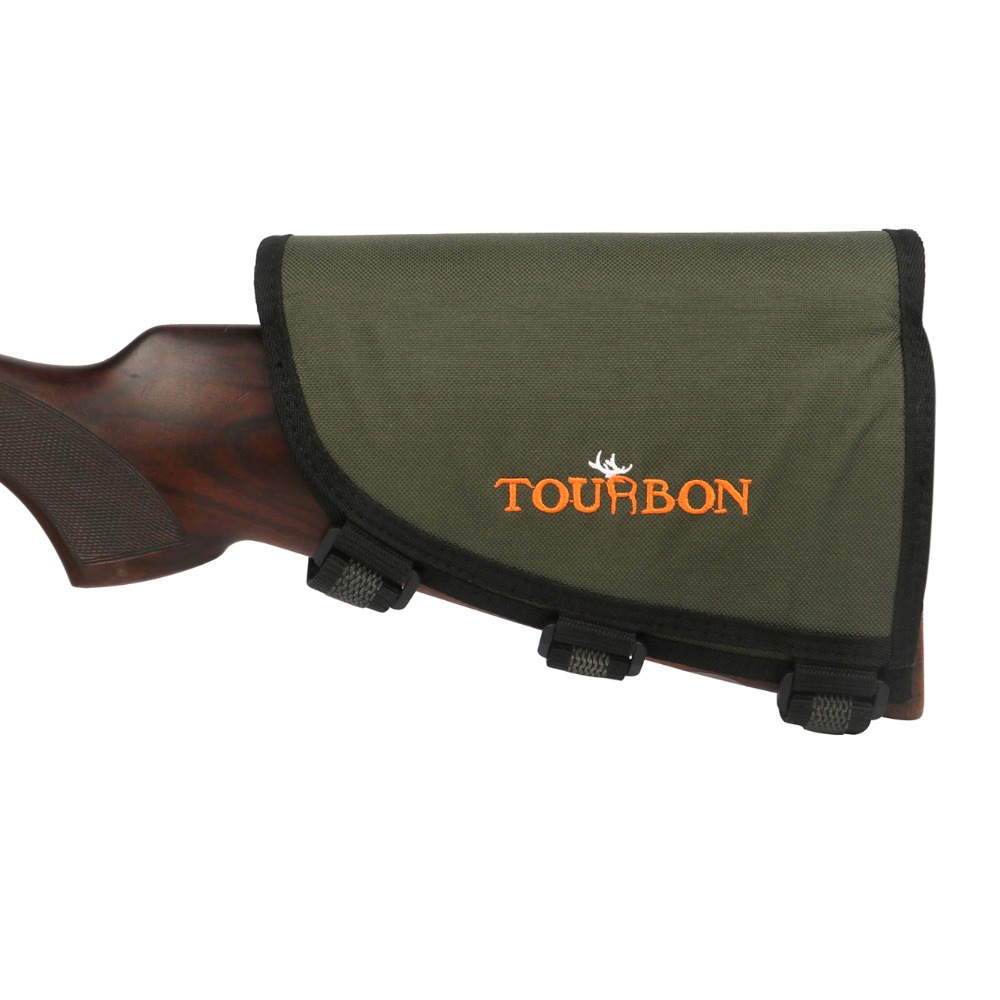 Tourbon Hunting Shooting Rifle Gun Buttstock Cheek Rest Ammo Cartridges Holder With 3 Adjustable Pads Gun Accessories