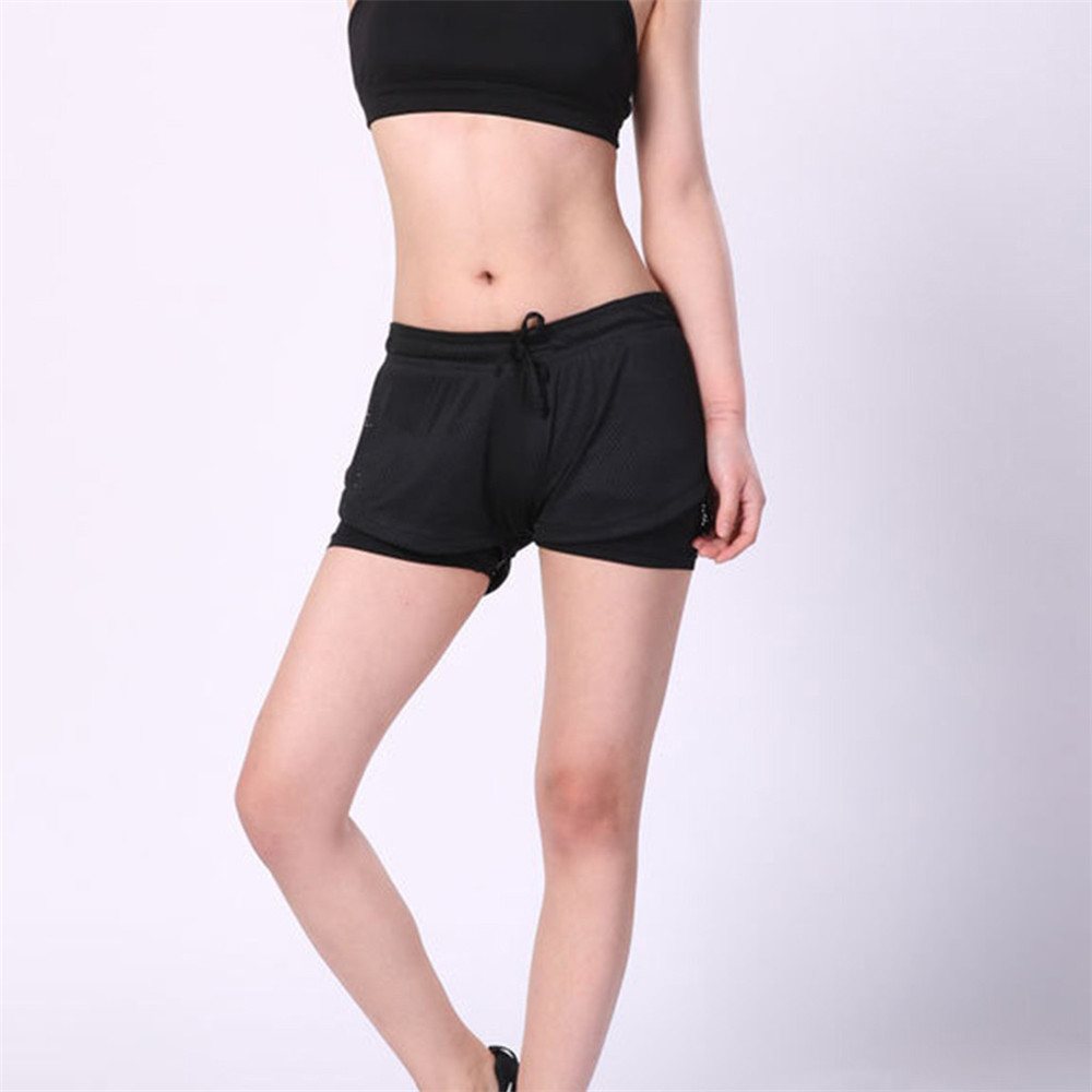 JAYCOSIN Women Clothes   Shorts   Sexy Elastic Waist Female   Shorts   Fashion Quick-Dry Double Layer Fitness Sports Thin   Short   Pants