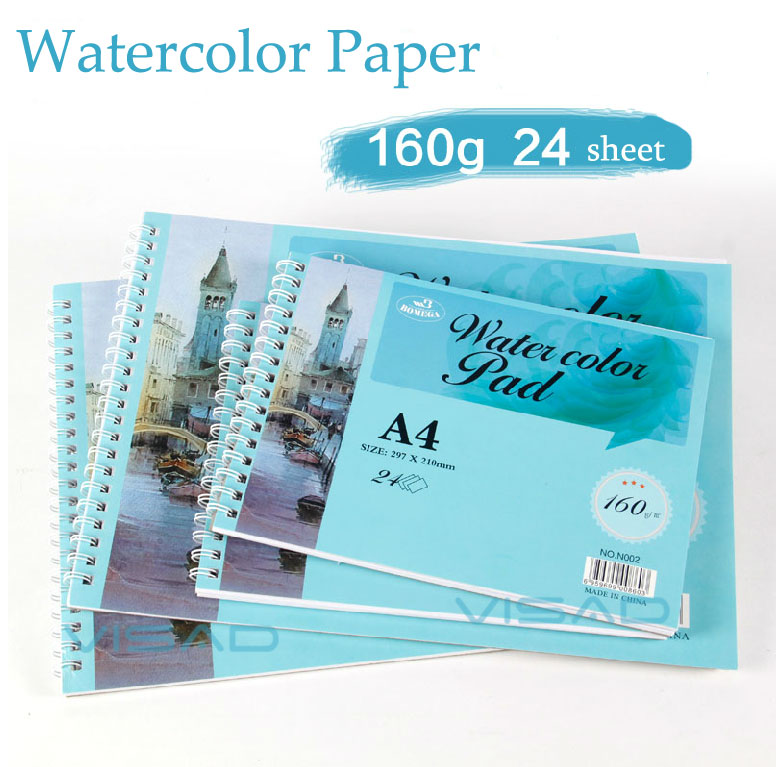 A4 Canson watercolor paper, acid free removable rough/smooth watercolor pad, watercolor drawing paperA4 Canson watercolor paper, acid free removable rough/smooth watercolor pad, watercolor drawing paper