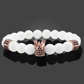 c29cec27b14b 4 estilo 8mm blanco porcelana perlas de plata oro pistola negro oro rosa