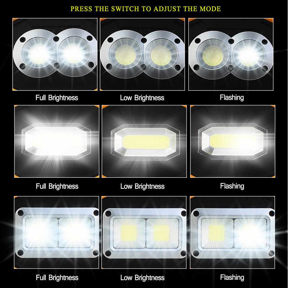 USB 5V LED Schijnwerper Verlichting Lamp Oplaadbare Spotlight 18650 Batterij Outdoor Licht Led Reflector 20W Voor Camping emergency
