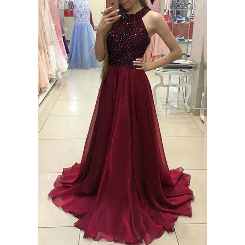 Women Ladies  Formal Party Ball Prom Long Dress