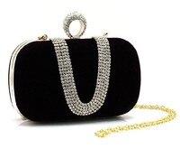 2013 Fashion Diamond Luxury Hard Case Clutch Bag