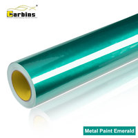 Professional Car Wraps Vinyl Film Carbins Metal Paint Emerald High Gloss