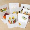 5 teile/los Kreative Papier Carving Dreidimensionale Karten Geburtstag Karte Grußkarten Klapp Postkarten-in Karton aus Büro- und Schulmaterial bei