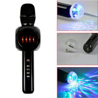 AIYIMA Portable Wireless Bluetooth Karaoke Microphone Speaker KTV Singing Mic Music Speaker With Disco Light