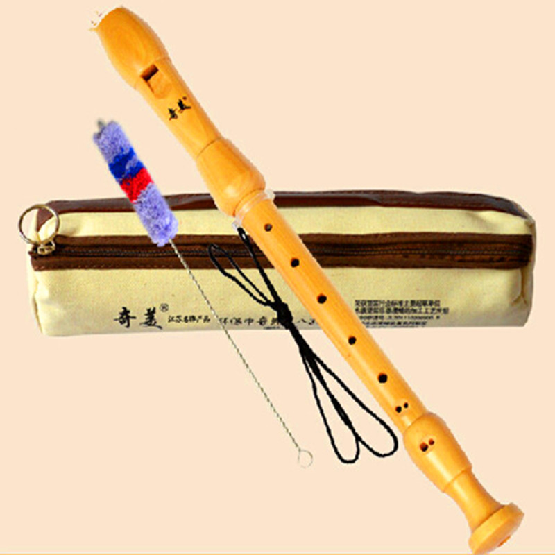 Fahordó barokk fuvola Dizi F Key Alto 8 lyuk Flauta Profissional Wood Hangszerek Klarinét Fuvola blokfluit