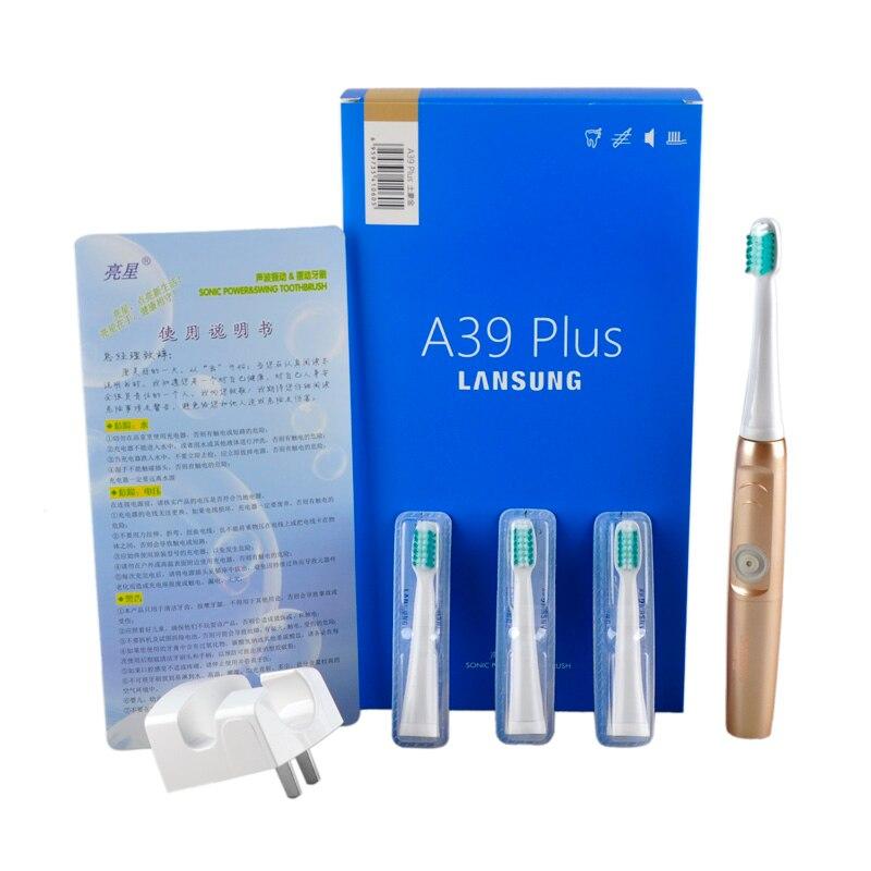 Lansung A39Plus Exigível Carga escova de Dentes Elétrica Sem Fio Ultra sonic sonic Escova de Dentes Elétrica Escova de Dentes Higiene Oral