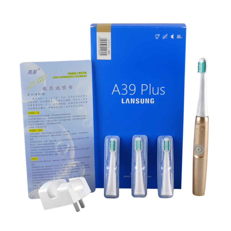 lansung A39Plus Chargeable Electric Toothbrush Wireless Charge Ultrasonic Sonic Electric Tooth Brush Teeth Brush Oral Hygiene lansung ultrasonic sonic toothbrush tooth brush teeth adult electric toothbrush oral irrigator gifts dental floss 60