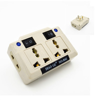 New United Kingdom Universal AC Travel Power Adapter Converter Electrical Outlets With Double Switch