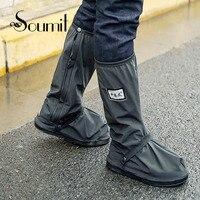 Soumit чехол для велосипедной обуви Водонепроницаемый ветрозащитные непромокаемые сапоги черный Чехлы для обуви многократного применения дл...