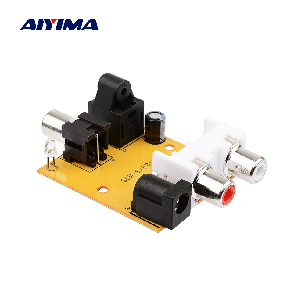 AIYIMA 5V Digital To Analog Audio Converter Amplifier Decoder Optical Fiber Coaxial Signal To Analog SPDIF Converter RCA For DVD