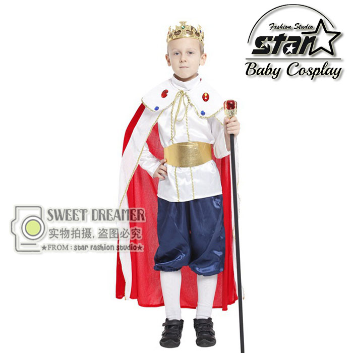 3 Pcs Set Children Boys Halloween Costume Snow White Prince Cosplay Clothes Party Stage Performance Prom Clothes Fantasia Wear girls boys halloween costumes surgeon sets doctor cosplay stage wear clothing children kids party clothes free drop shipping new