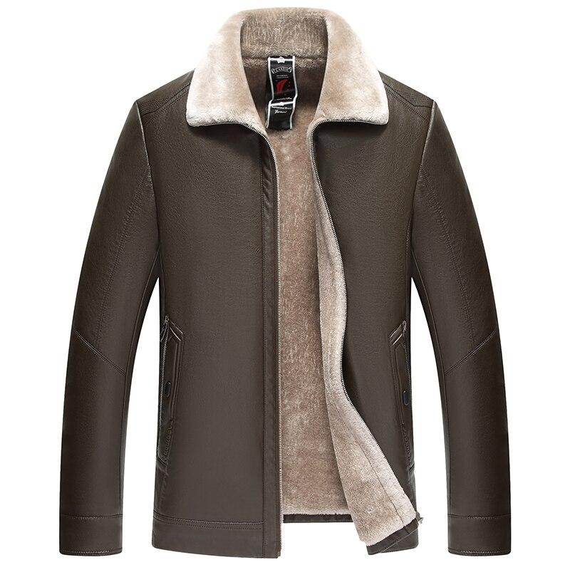 Haute qualité hommes veste en cuir 2019 nouveau solide col montant imperméable homme Faux cuir manteau jaqueta de couro masculina 9816