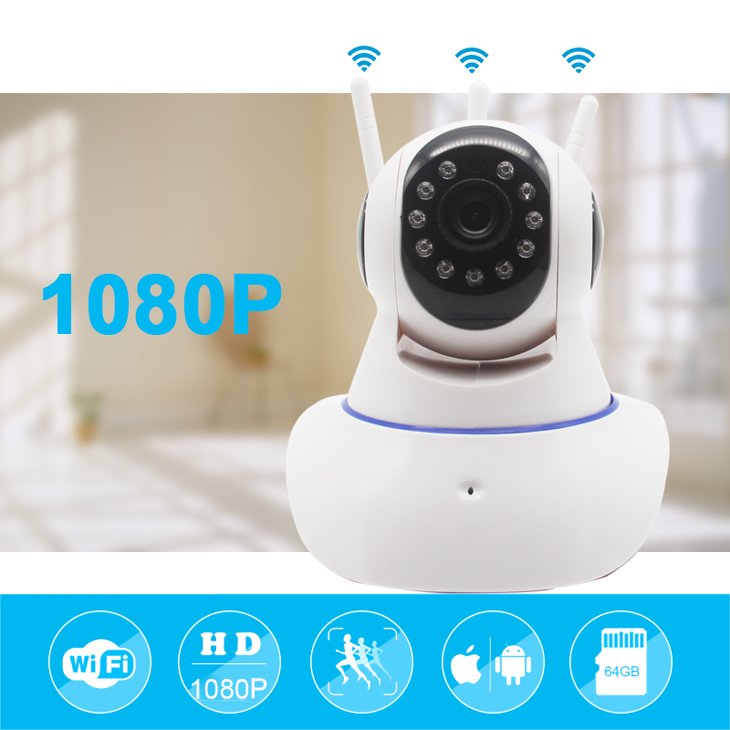 Mini CCTV WiFi Camera IP YOOSEE 1080P Home Security Camera Wi-Fi P2P Two Way Audio Night Vision 3 Antennas Wireless Baby Monitor smart mini camera wifi support two way audio night vision sd card onvif motion detect camera with wifi for home security