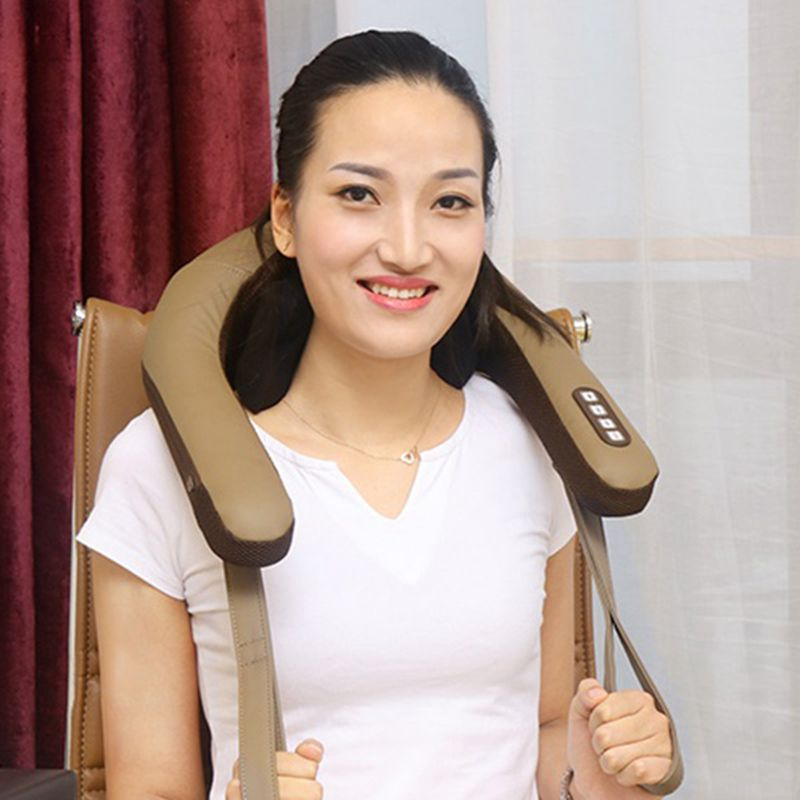 ST - 302B 3D Charging Cervical Spine Kneading Massage ShawlST - 302B 3D Charging Cervical Spine Kneading Massage Shawl