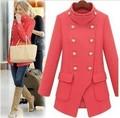 Lana mezclas Trench Coat para mujeres nuevo 2016 invierno doble delgada Breasted Casacos Femininos largo Outwear abrigos femeninos abrigo